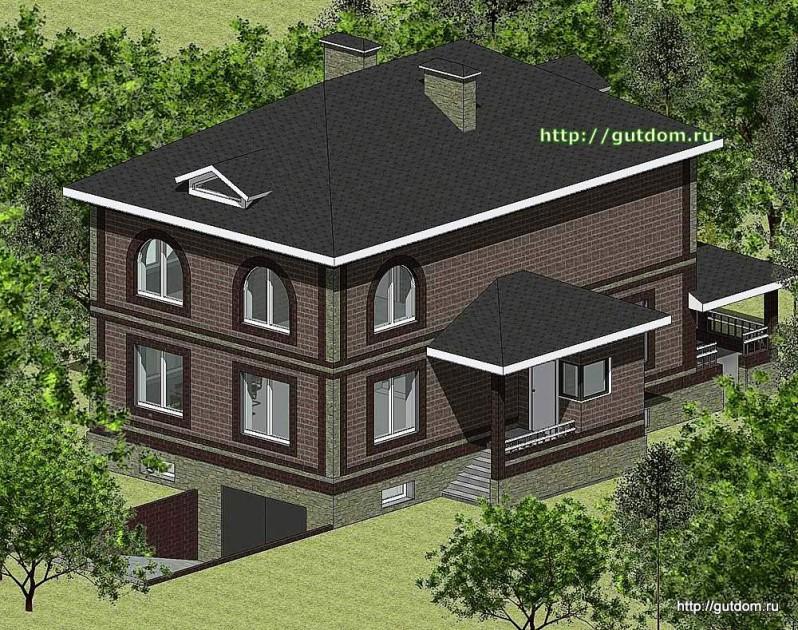 Проект двухэтажного дома Панц20 площадью 200 м2