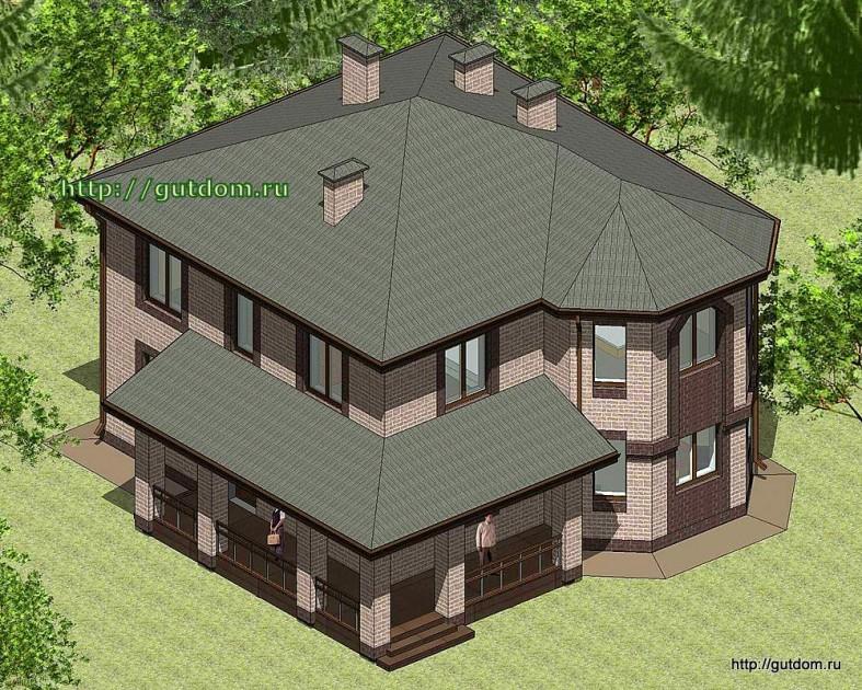 Проект двухэтажного дома Панц28 площадью 166 м2