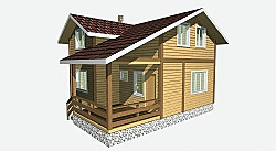 Проект двухэтажного дома из бруса площадью 103,2 м2 Вика4 ум
