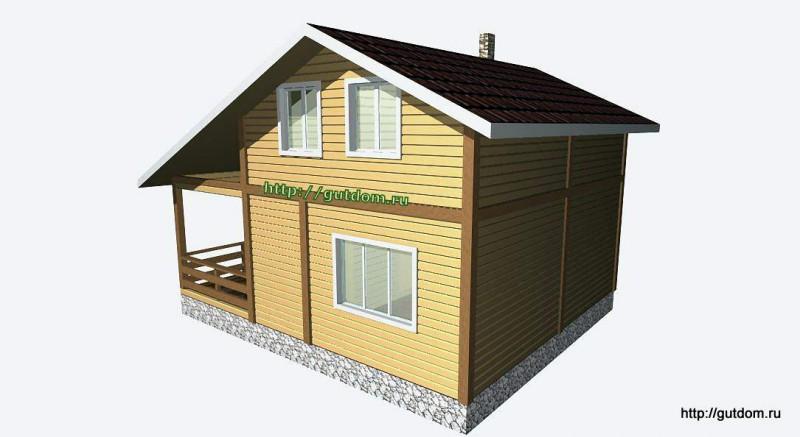 Проект двухэтажного дома из бруса площадью 103,2 м2 Вика4 эскиз 3