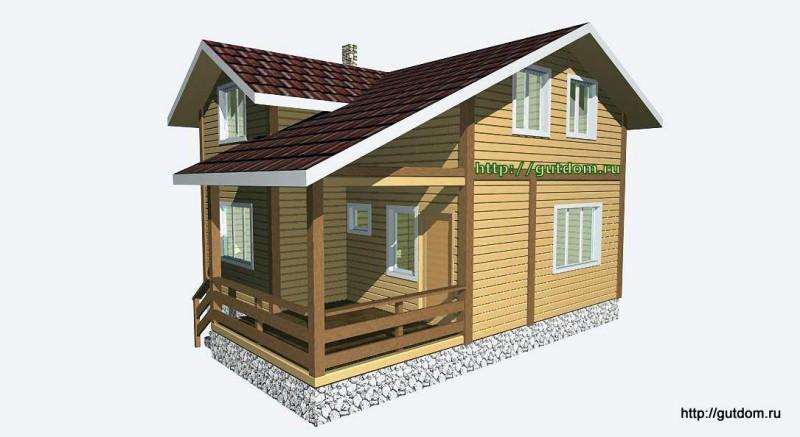Проект двухэтажного дома из бруса площадью 103,2 м2 Вика4