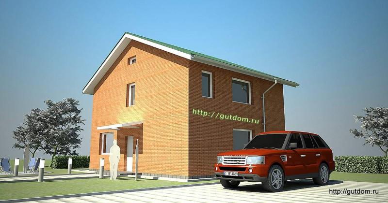 Проект двухэтажного дома из газоблоков площадью 138 м2 Крас1, эскиз 3