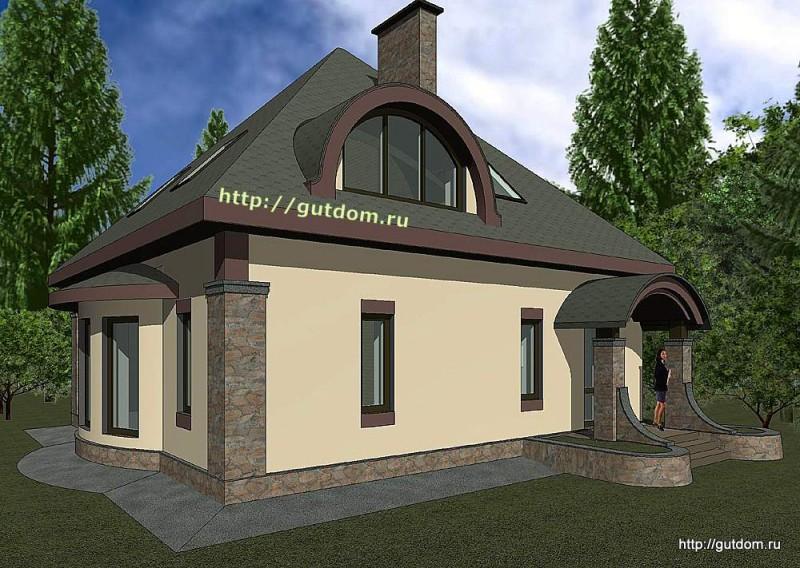 Проект двухэтажного дома площадью 156 м2 Панц31 эскиз 2