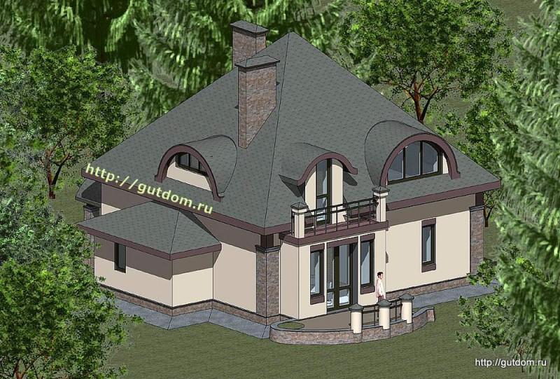 Проект двухэтажного дома площадью 156 м2 Панц31 эскиз 3