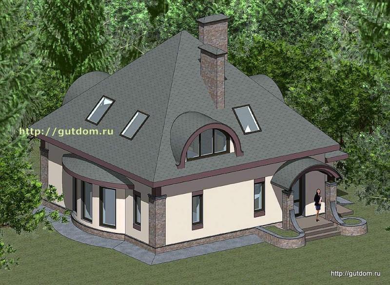 Проект двухэтажного дома площадью 156 м2 Панц31