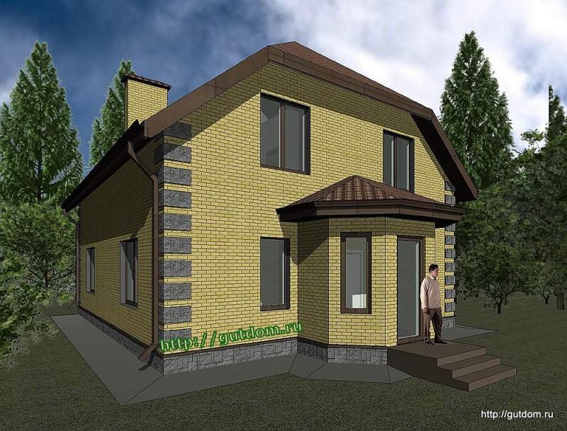 Проект двухэтажного дома площадью 165 м2 Панц29 эскиз 2