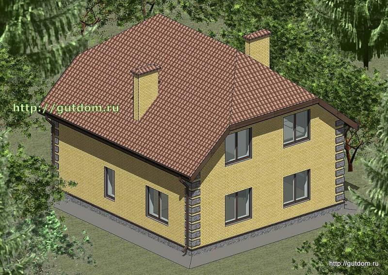 Проект двухэтажного дома площадью 165 м2 Панц29 эскиз 3