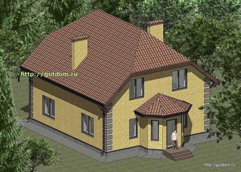 Проект двухэтажного дома площадью 165 м2 Панц29