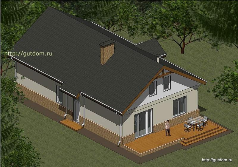 Проект двухэтажного дома площадью 173 м2 Панц26 эскиз 3