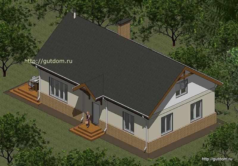 Проект двухэтажного дома площадью 173 м2 Панц26