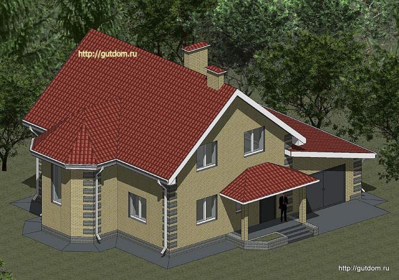 Проект двухэтажного дома площадью 180 м2 Панц24
