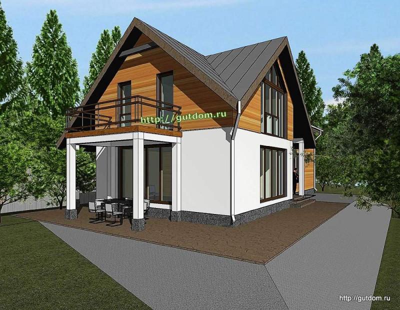 Проект двухэтажного дома площадью 182 м2 Панц23 эскиз 2