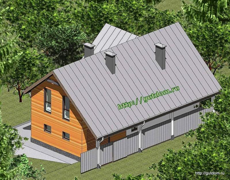 Проект двухэтажного дома площадью 182 м2 Панц23 эскиз 3
