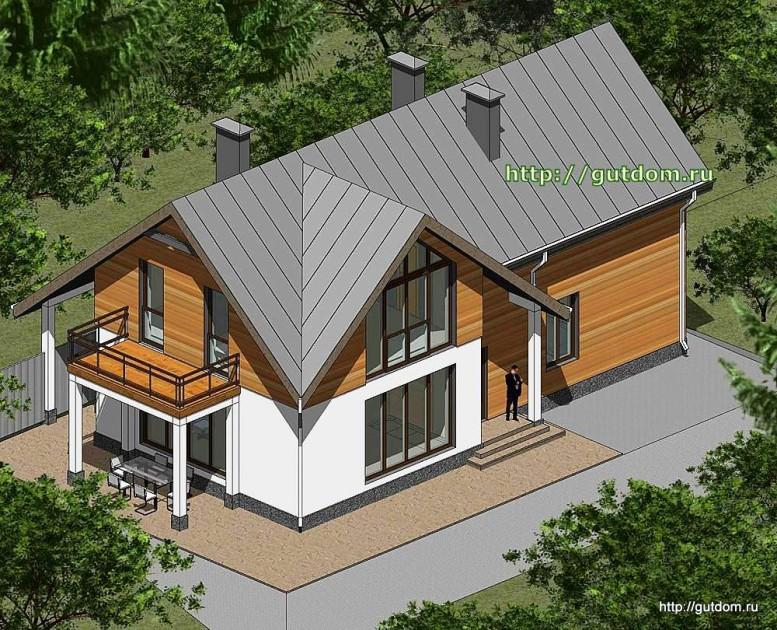 Проект двухэтажного дома площадью 182 м2 Панц23