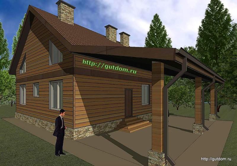 Проект каркасного дома площадью 164 м2 Панц30 эскиз 2