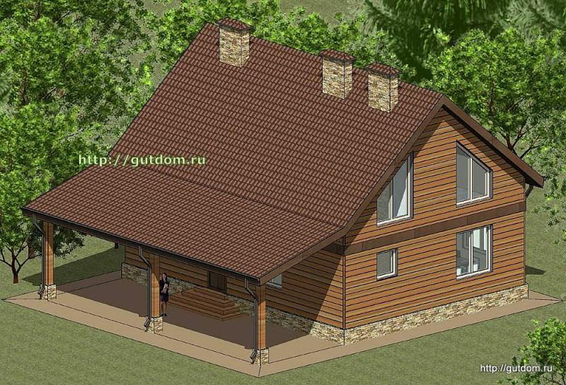 Проект каркасного дома площадью 164 м2 Панц30