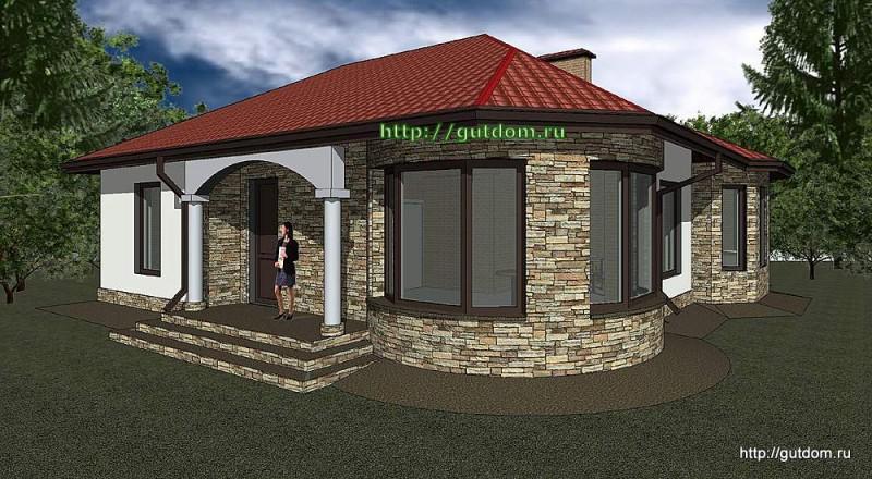 Проект одноэтажного дома площадью 109 м2 Панц35, эскиз 3