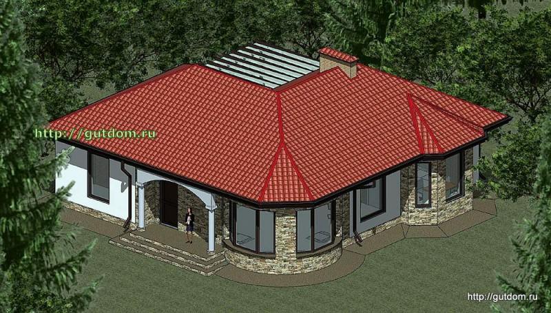 Проект одноэтажного дома площадью 109 м2 Панц35