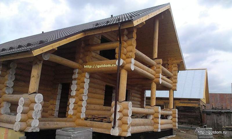 Строительство дома из оцилиндрованного бревна фото 4