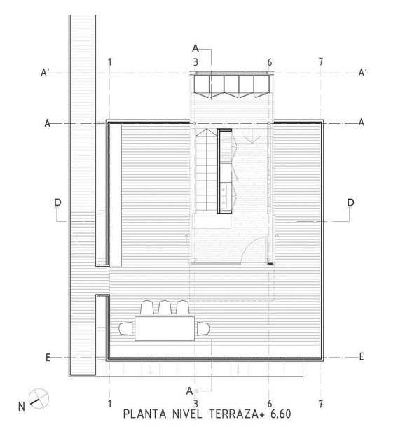 План третьего этажа - террасы