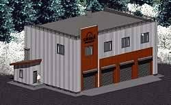 Проект автосервиса площадью 430 м2 на четыре авто Панц6