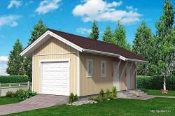 Проект гаража площадью 37 м2 СИП Г4