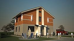 Проект двухэтажного дома из газоблоков площадью 138 м2 Крас1 ум