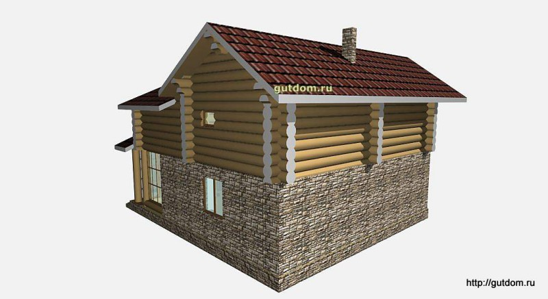 Проект двухэтажного дома площадью 154 м2 Вика7 эскиз 5