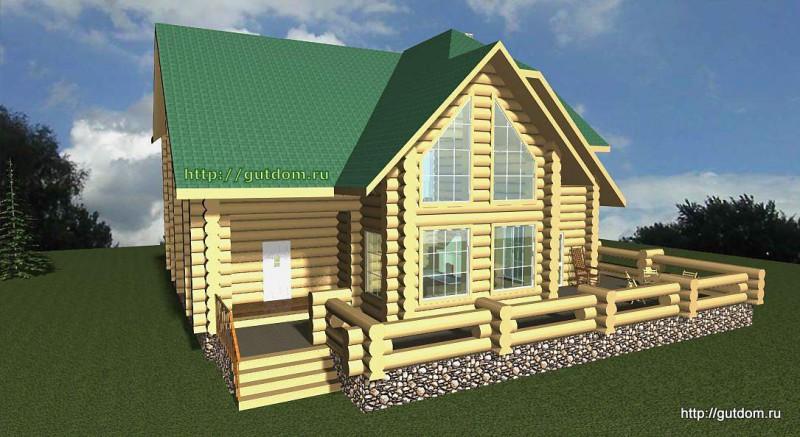 Проект двухэтажного дома площадью 271 м2 Вика5 эскиз 2