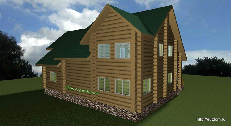 Проект двухэтажного дома площадью 271 м2 Вика5 эскиз 3