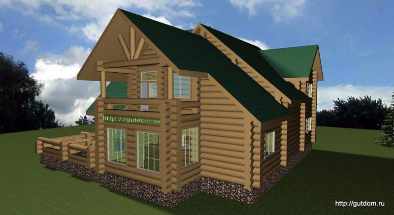 Проект двухэтажного дома площадью 271 м2 Вика5 эскиз 4