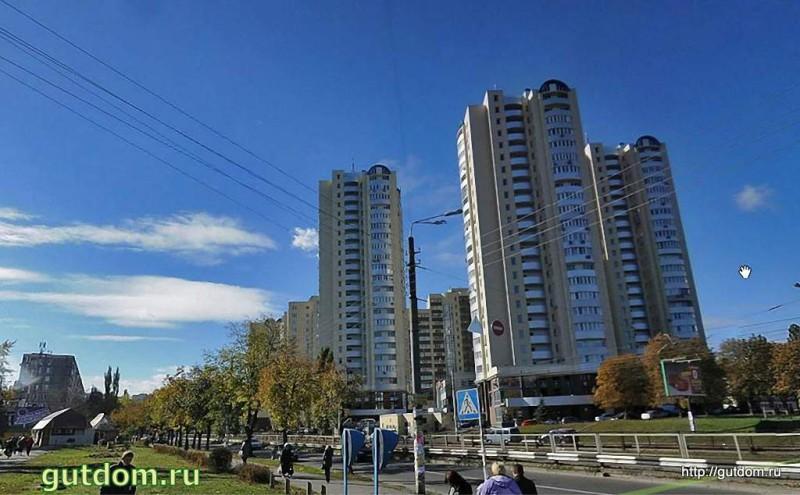 Построенные многоэтажки в г. Киев на бульваре Кольцова - см. выше эскиз