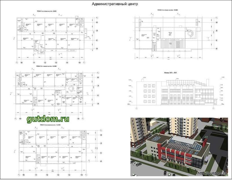 эскиз 3, Проект административного центра жилого комплекса