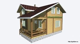 Проект двухэтажного дома дачи из бруса площадью 103 м2 Вика4