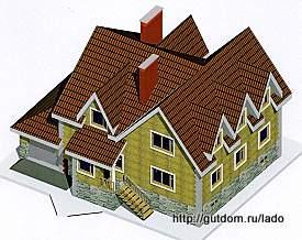Проект двухэтажного дома с подвалом 349 м2 Ладо7, 275 px