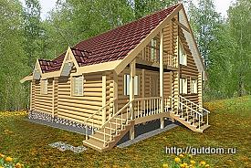 Проект дома из оцилиндрованного бревна Ладо5, 275 px