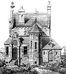 Проект дома, 1888 г. 250 px