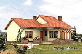 Одноэтажный дом ГБ73, 270