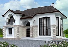 Проект двухэтажного дома ГБ74, 275