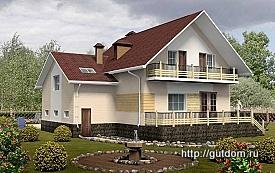 Проект двухэтажного дома ГБ76, 275