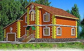 Проект двухэтажного дома из газоблоков