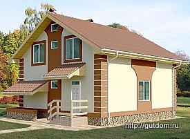 Проект двухэтажного дома с подвалом из газобетона 187 м2 Бонд2, 275