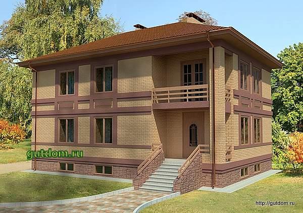 Проект двухэтажного дома с подвалом 204 м2 Бонд8