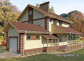 Проект дома из газобетона 247 м2 Бонд1, 275