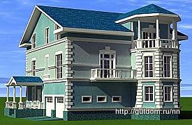 Проект дома с мансардой из газобетона