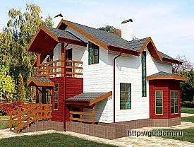 Проект каркасного одноэтажного дома с мансардой 146 м2 Бонд7, 275