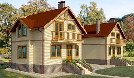 Проект каркасного одноэтажного дома с мансардой 192 м2 Бонд5 275