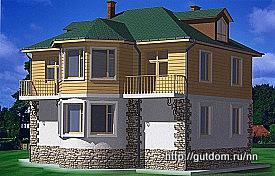 Проект комбинированного дома из газобетона