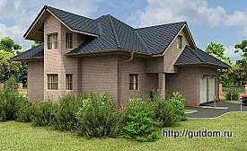 Проект одноэтажного дома с мансардой ГБ77, 275