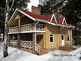 Проект одноэтажного дома с мансардой из бруса 182 м2 Бонд4, 275